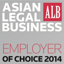Asian Legal Business – Employer of Choice 2014