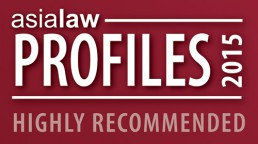 Asialaw Profiles 2015 – Highly Recommended Law Firm